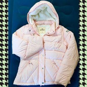 Hollister Pink Sherpa Coat